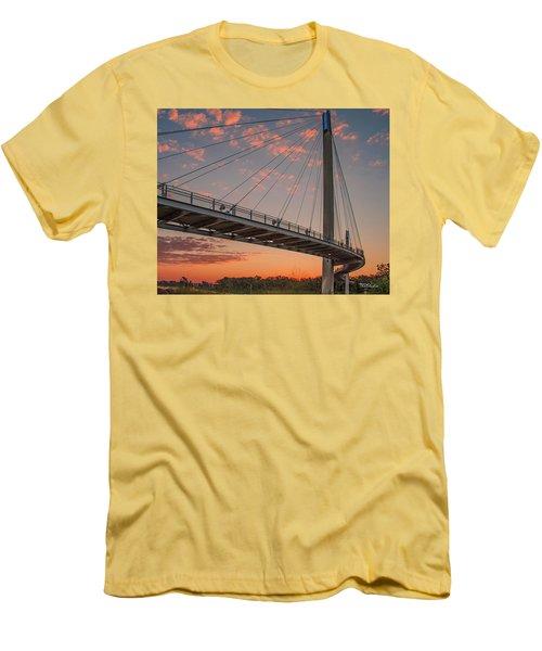 Bob Kerry Bridge At Sunrise-4 Men's T-Shirt (Athletic Fit)