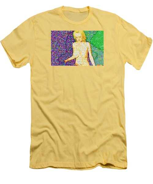 Men's T-Shirt (Slim Fit) featuring the painting Body Perfect by Mario Carini