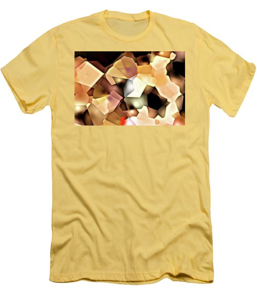 Men's T-Shirt (Slim Fit) featuring the digital art Bonded Shapes by Ron Bissett