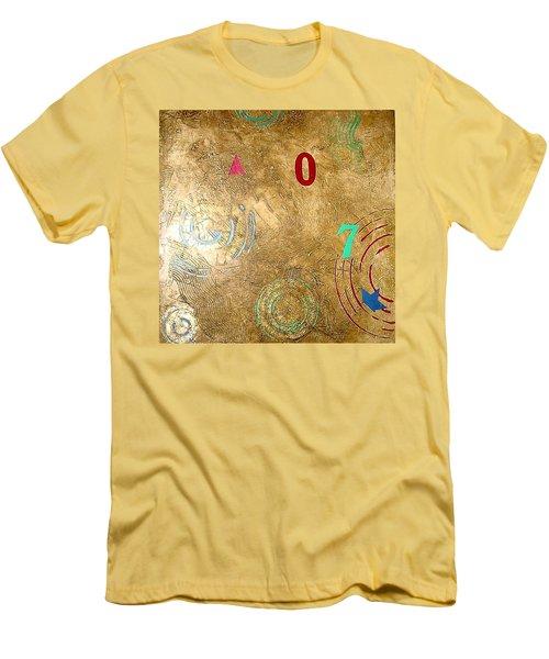 Men's T-Shirt (Slim Fit) featuring the painting Boogie 7 by Bernard Goodman