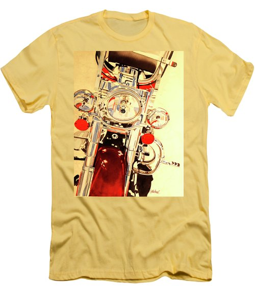 Men's T-Shirt (Slim Fit) featuring the painting Born To Be Wild by Cynthia Powell