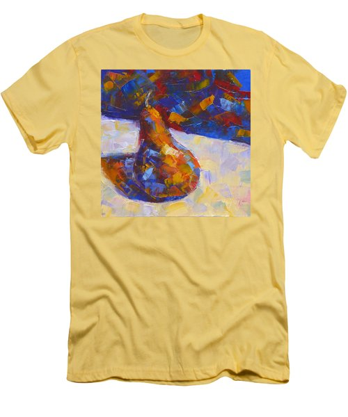 Bosc Pear Mosaic Men's T-Shirt (Slim Fit) by Susan Woodward