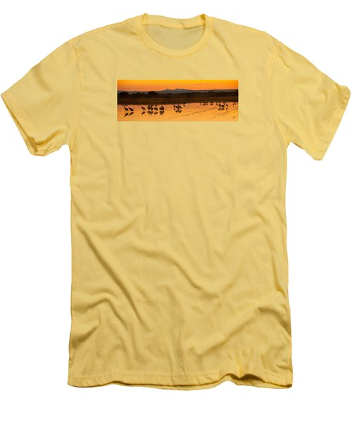 Bosque Sunrise Men's T-Shirt (Slim Fit) by Alan Vance Ley