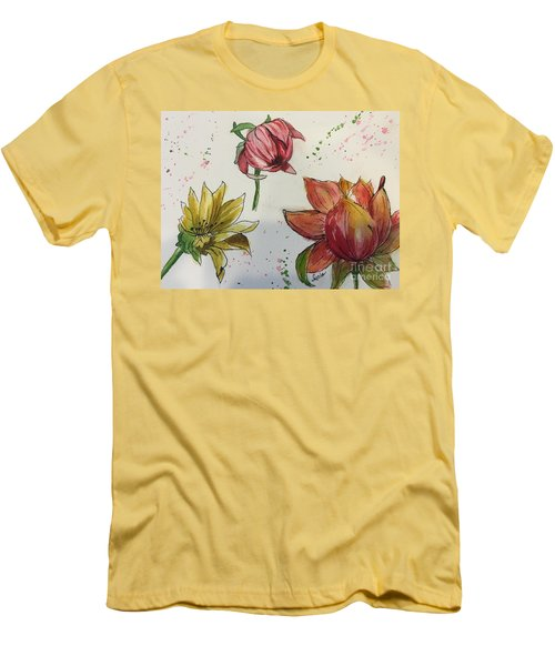 Botanicals Men's T-Shirt (Slim Fit) by Lucia Grilletto