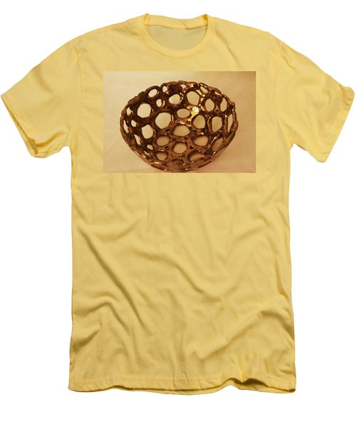 Men's T-Shirt (Slim Fit) featuring the photograph Bowle Of Holes by Itzhak Richter