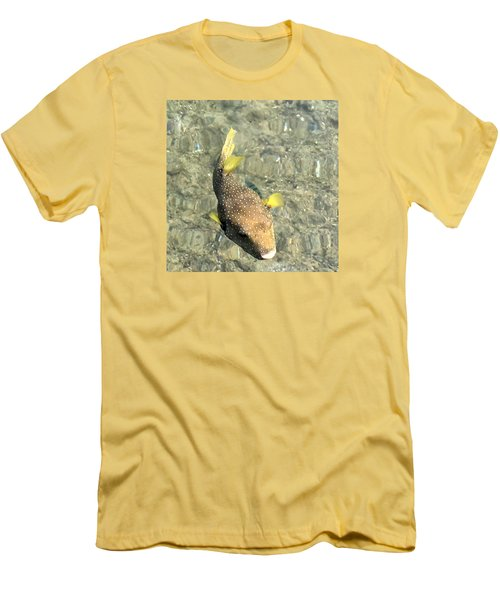 Men's T-Shirt (Slim Fit) featuring the photograph Box Fish - 2 by Karen Nicholson