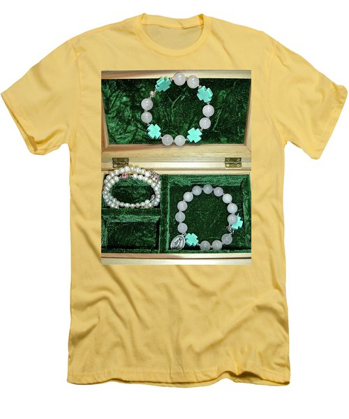 Men's T-Shirt (Athletic Fit) featuring the jewelry Bracelets Of Faith by Michele Myers