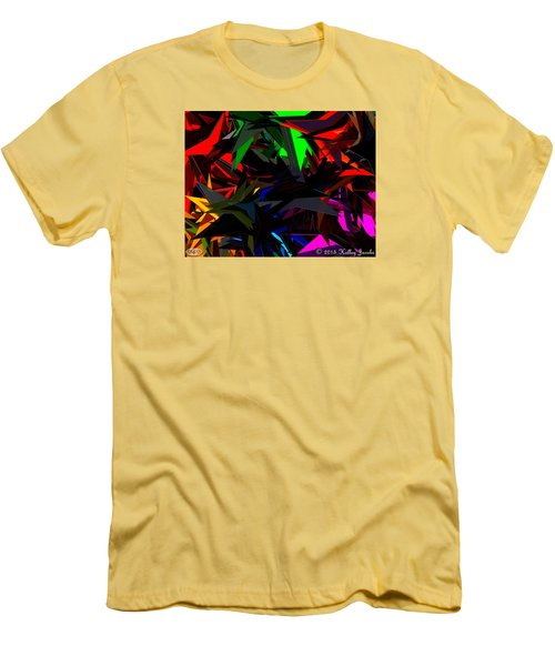 Men's T-Shirt (Slim Fit) featuring the painting Brave by Holley Jacobs