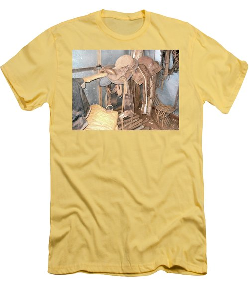 Men's T-Shirt (Slim Fit) featuring the photograph Brazilian Cowboy Clothes by Beto Machado