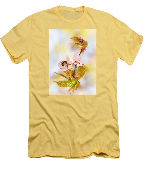 Men's T-Shirt (Slim Fit) featuring the photograph Breakfast At Sakura by Alexander Senin
