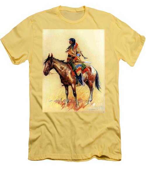 Men's T-Shirt (Slim Fit) featuring the painting Breed by Pg Reproductions