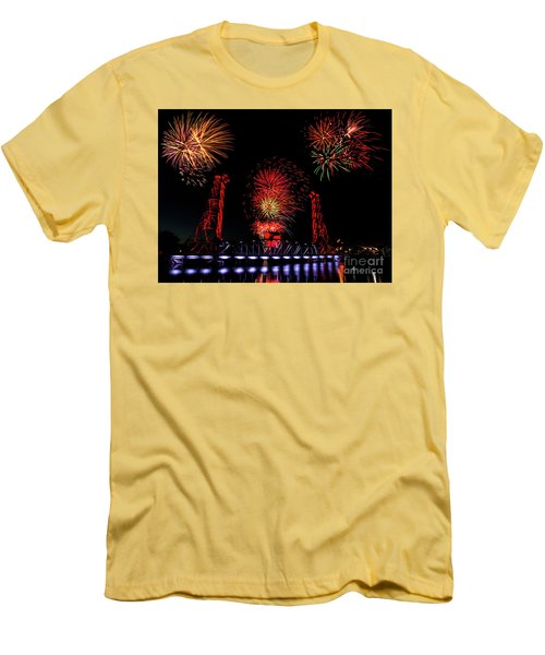 Men's T-Shirt (Slim Fit) featuring the photograph Bridge 13 Canada Day by JT Lewis