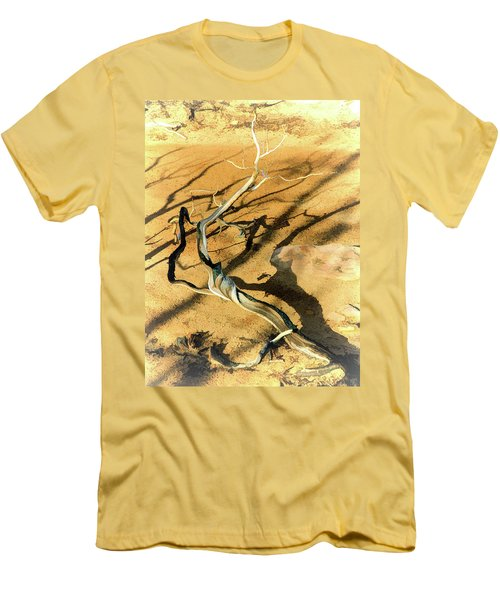 Brins Mesa 07-100 Burnt Men's T-Shirt (Slim Fit) by Scott McAllister
