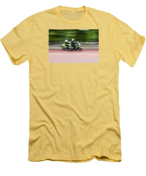 British Police Motorcycle Men's T-Shirt (Athletic Fit)
