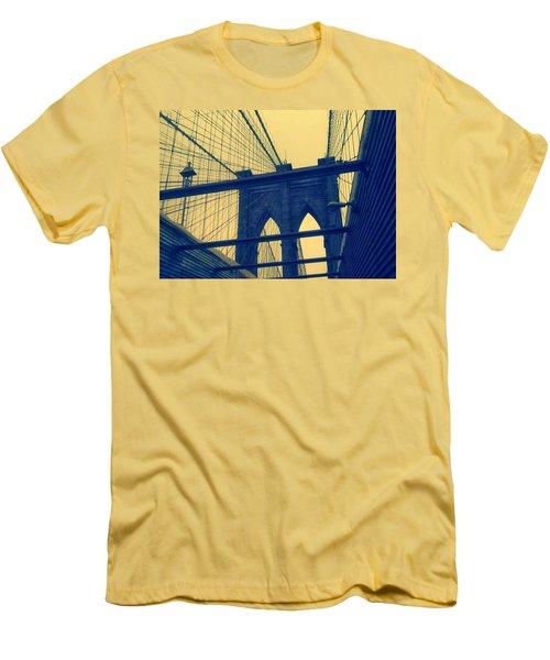 New York City's Famous Brooklyn Bridge Men's T-Shirt (Slim Fit) by Paulo Guimaraes