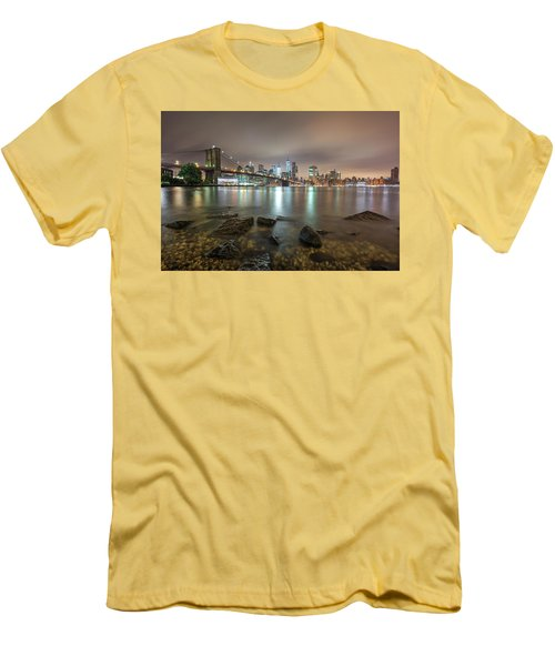 Brooklyn Bridge At Sunrise  Men's T-Shirt (Athletic Fit)
