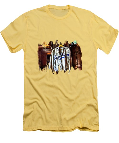 Men's T-Shirt (Slim Fit) featuring the photograph Brooklyn Dodgers Baseball  by Thom Zehrfeld