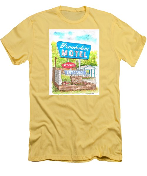 Brookshire Motel In Route 66, Tulsa, Oklahoma Men's T-Shirt (Slim Fit) by Carlos G Groppa