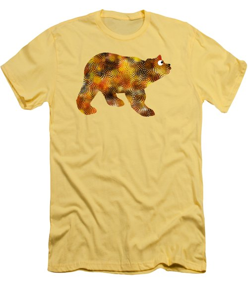 Brown Bear Silhouette Men's T-Shirt (Slim Fit) by Christina Rollo