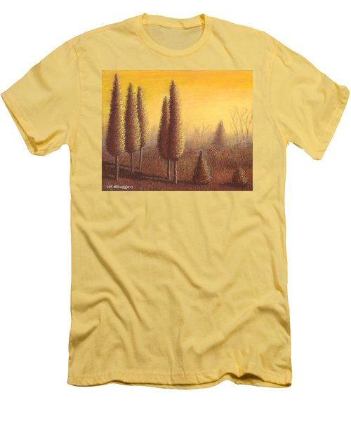 Brown Trees 01 Men's T-Shirt (Athletic Fit)