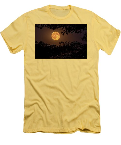 Men's T-Shirt (Slim Fit) featuring the photograph Buck Moon 2016 by Everet Regal