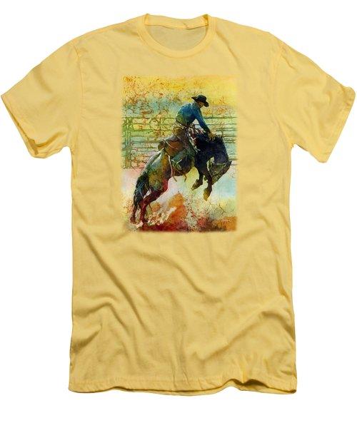 Bucking Rhythm Men's T-Shirt (Slim Fit) by Hailey E Herrera