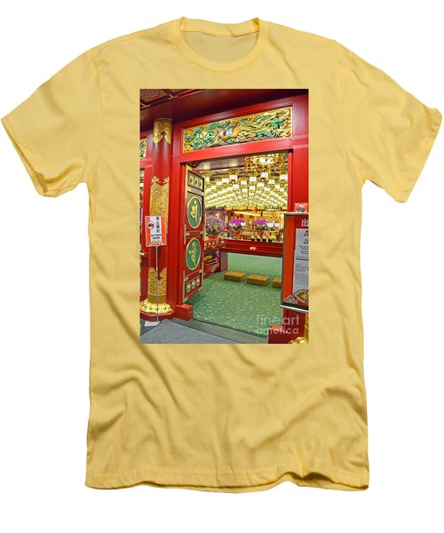 Men's T-Shirt (Slim Fit) featuring the digital art Buddha Tooth Relic Temple And Museum by Eva Kaufman