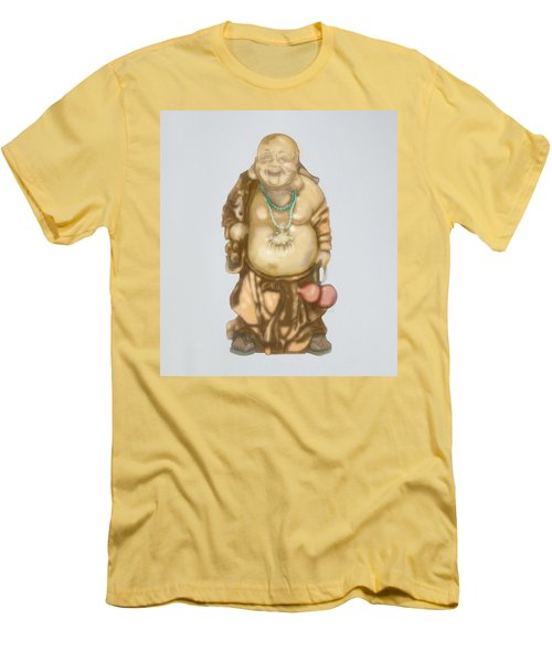 Men's T-Shirt (Slim Fit) featuring the mixed media Buddha by TortureLord Art