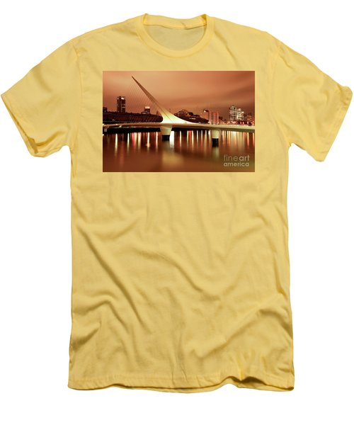 Buenos Aires On Fire Men's T-Shirt (Slim Fit) by Bernardo Galmarini