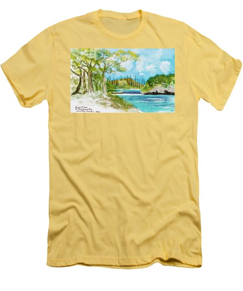 Bugny Trees At Kanumera Bay, Ile Des Pins Men's T-Shirt (Athletic Fit)