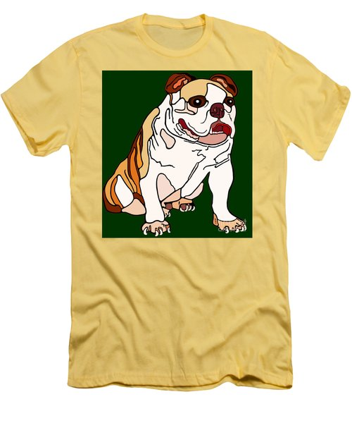 Bulldog Men's T-Shirt (Slim Fit) by Marian Cates