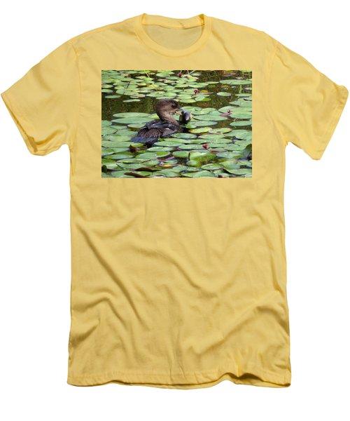 Bullfrog For Breakfast Men's T-Shirt (Slim Fit) by I'ina Van Lawick
