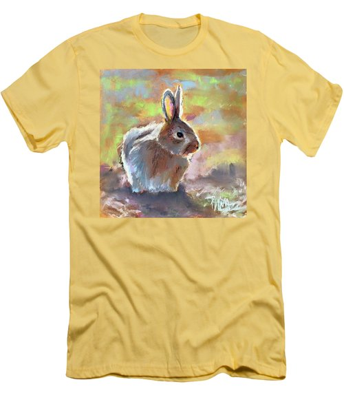 Men's T-Shirt (Slim Fit) featuring the pastel Bunny by Pattie Wall
