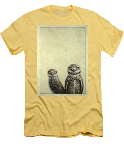 Burrowing Owls Men's T-Shirt (Slim Fit) by James W Johnson