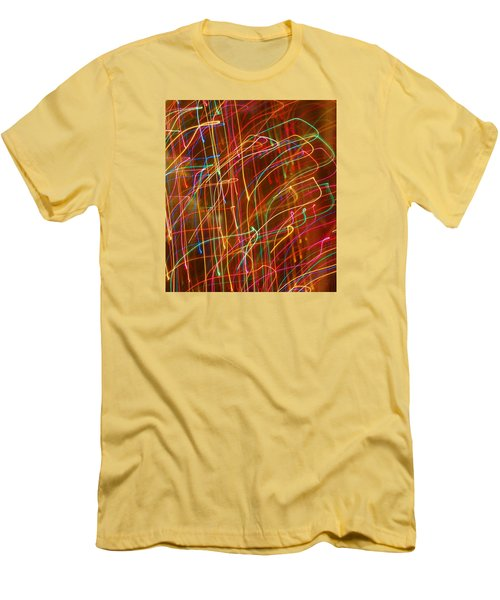 Men's T-Shirt (Slim Fit) featuring the photograph Bursting With Colors by Ramona Whiteaker