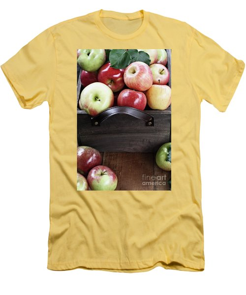 Men's T-Shirt (Slim Fit) featuring the photograph Bushel Of Apples  by Stephanie Frey