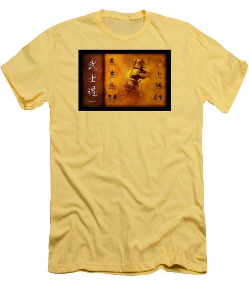 Men's T-Shirt (Slim Fit) featuring the digital art Bushido Way Of The Warrior by John Wills