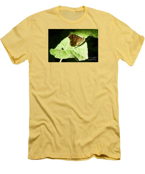 Men's T-Shirt (Slim Fit) featuring the photograph Butterfly 2 by Jean Bernard Roussilhe