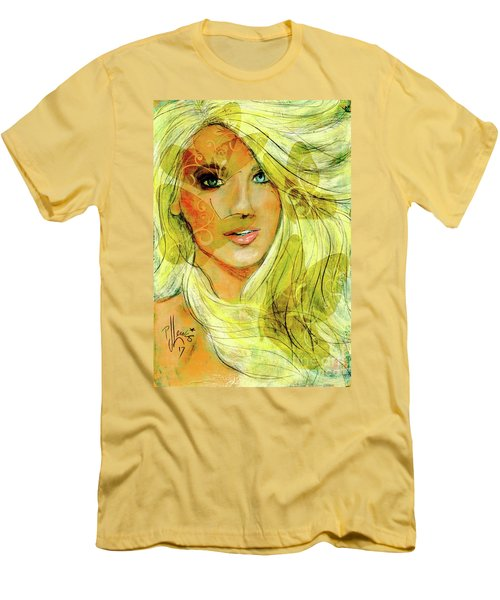 Butterfly Blonde Men's T-Shirt (Slim Fit) by P J Lewis