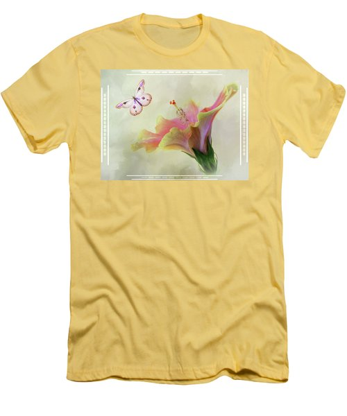Butterfly Hibiscus Art II Men's T-Shirt (Athletic Fit)
