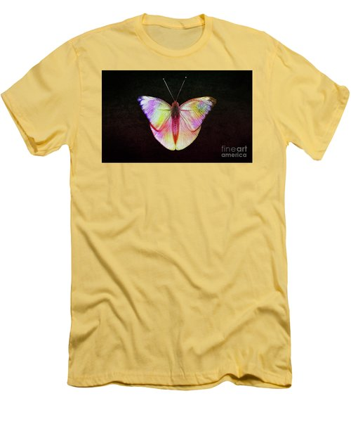 Butterfly In Retro  Men's T-Shirt (Athletic Fit)