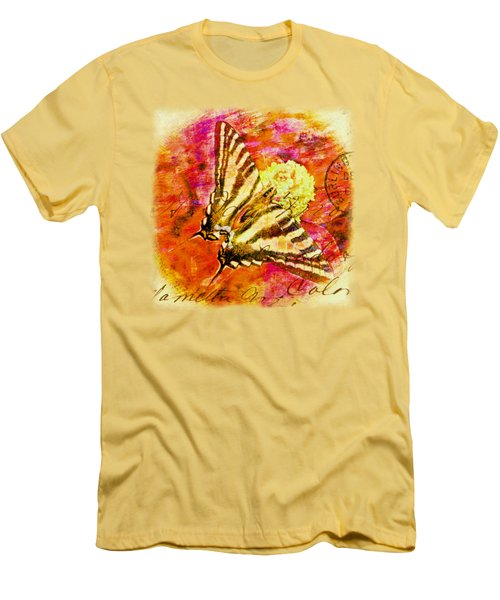 Butterfly T - Shirt Print Men's T-Shirt (Slim Fit) by Debbie Portwood