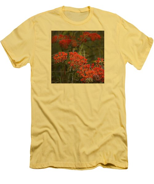 Butterfly Weed Asclepias Tuberosa Men's T-Shirt (Slim Fit) by Bellesouth Studio