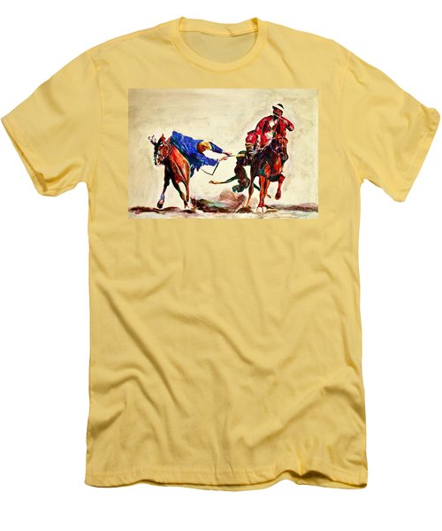 Buzkashi, A Power Game Men's T-Shirt (Athletic Fit)