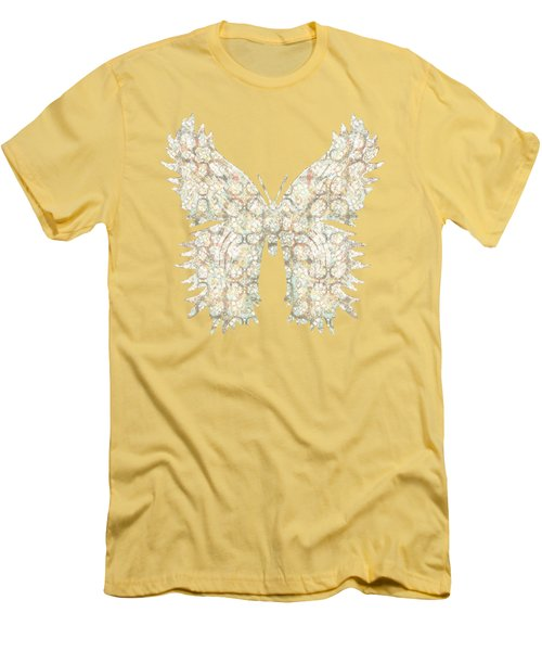 Cabbage Crackle White Men's T-Shirt (Athletic Fit)