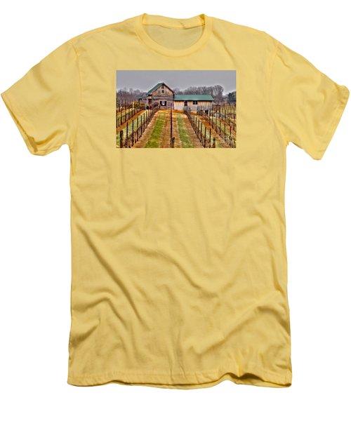 Cabin At Autumn Creek Vineyard Men's T-Shirt (Athletic Fit)