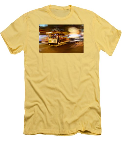 Men's T-Shirt (Slim Fit) featuring the photograph Cable Car At Light Speed by Steve Siri