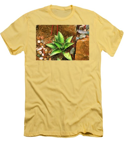 Cacti Moods In Technicolor Men's T-Shirt (Slim Fit) by Terry Cork