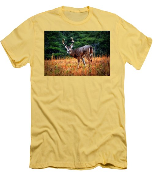 Cades Cove - The Buck Stopped Here 002 Men's T-Shirt (Slim Fit) by George Bostian