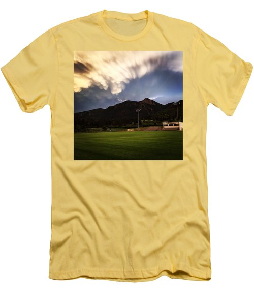 Men's T-Shirt (Slim Fit) featuring the photograph Cadet Soccer Stadium by Christin Brodie